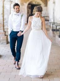 relaxed wedding dress simple sleeveless floor length chiffon lace top wedding