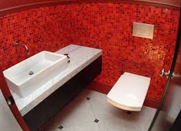 Red And Black Bathroom Ideas Colors Red And Black Bathroom Decorating Ideas Two Ceiling Support Soft
