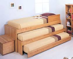 Bunk Bed With Slide Out Bed Bunk Bed Ideas Diy Best Plans On Loft Beds Boy Built In Bunks