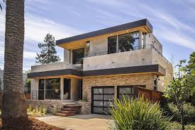 Pillars Decoration In Homes by Modern Prefabricated Modern Home With Stacked Stones Pillars And