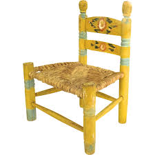 Mexican Furniture Vintage Mexican Painted Child U0027s Chair Yellow Floral From