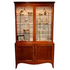 Pine Bookcase With Doors Antique English George Iii Style Pine Bookcase Or Display Cabinet