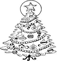 decorating christmas trees with candy cane and dove coloring pages