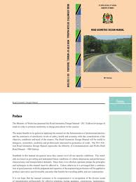 tanzania road geometric design manual 2012 traffic road