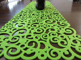 lime green table runner lime green table runner and mats table runners