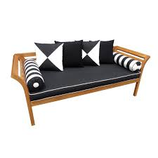 Warehouse Patio Furniture Mimosa Curved Timber Day Bed With Cushion I N 3191382 Bunnings