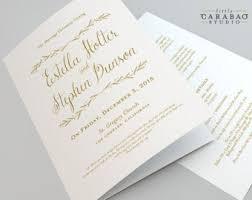 folded wedding program printable folded wedding program