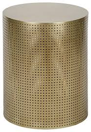 Drum Side Table Metal Drum Cylinder Side And End Tables Houzz