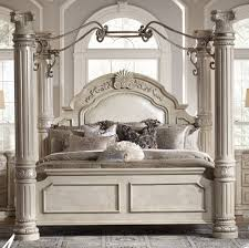 queen canopy bed aico monte carlo ii silver pearl queen canopy bed only 1 left