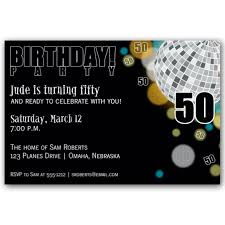 disco black 50th birthday invitations paperstyle