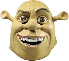 amazon com shrek costume accessory deluxe shrek mask clothing