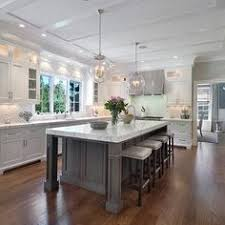 Cottage Style KitchenEntirely From Home Depot Island Design - Gray cabinets kitchen