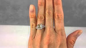 Diamond Cushion Cut Ring 3 13 Ctw Cushion Cut Diamond Engagement Ring With A 2 51 Ct