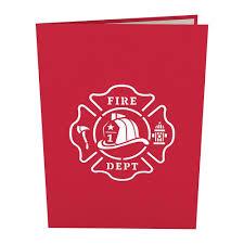 fire truck pop up card lovepop