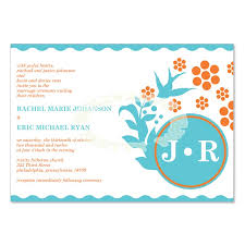 Do It Yourself Wedding Invitation Kits Blue U0026 Orange Wedding Invitation Kit U2013 Vanessa Ocean Diy Printable