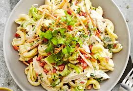 chicken pasta salad creamy chicken pasta salad recipe foodiful