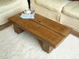 wood plank coffee table new dark solid pine wood coffee table chunky rustic plank low diy