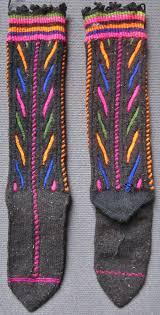 traditional knitted woollen socks for from belkis köyü