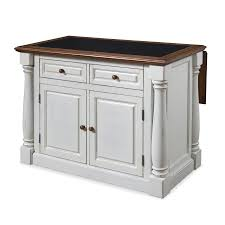 white kitchen islands shop home styles white midcentury kitchen islands at lowes com