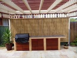 decor u0026 tips patio design with bamboo fencing and outdoor kitchen