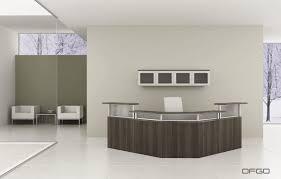 Office Reception Chairs Corner Reception Desk Glass Laminate Wooden Modern Office