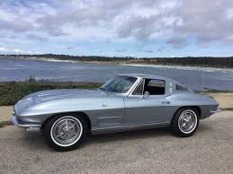 1963 corvette split window production numbers chevrolet corvette coupe 1963 silver blue for sale 30837s104873
