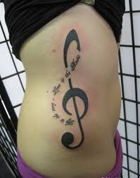 24 best tribol cliff bass clef heart tattoo images on pinterest
