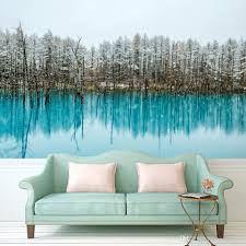 Wall Paintings For Home Decoration Wall Painting Custom Any Size Large Wallpaper For Living Room Lake
