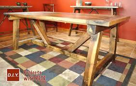 easy diy farmhouse table diy farm table plans triple pedestal farmhouse table free easy plans