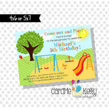 Family Reunion Invitation Cards Printable End Of The Year Summer Picnic Park Birthday