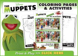 muppets dvd giveaway free printable muppets coloring pages