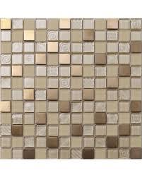 Dont Miss This Deal Gold And Copper Glass Metal Backsplash Tile - Metal backsplash