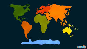 Seven Continents Map 7 Continents Of The World Geography For Kids Educational