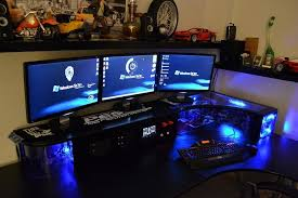 captivating pc gaming desk setup latest modern furniture ideas