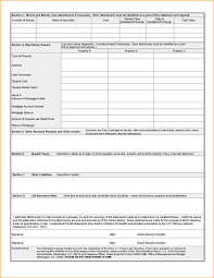 Personal Financial Statement Spreadsheet Personal Financial Statement Personal Financial Statement Template