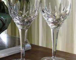 Vintage Waterford Irish Crystal Lismore Bowl By Birneycreek Waterford Wine 4 Vintage Waterford Irish Crystal White Wine