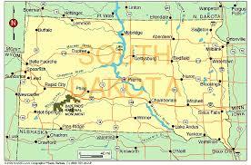 south dakota map with cities south dakota county map cities map