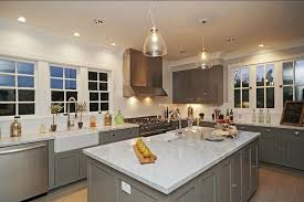 carrara marble kitchen island gray cabinets contemporary kitchen kishani perera