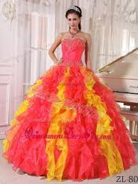 coral quince dress coral gown sweetheart floor length organza sequins