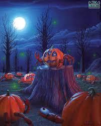 halloween crab pumpkin crab night moonlight sculpture jim mckenzie tim
