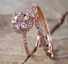 antique rose rings images Antique 18k rose gold morganite gemstone rings wedding women jpg
