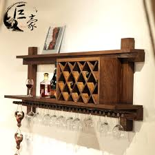 hanging wine rack large 40u201d handcrafted rustic cedar wall