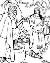 abraham sarah and their newborn son isaac coloring page