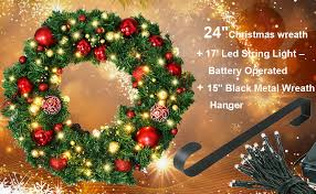 holiday time pre lit 18 christmas garland multi lights amazon com christmas wreath with led lights christmas garland