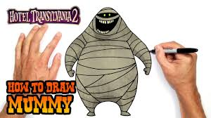 Easy Things To Draw For Halloween How To Draw Mummy Hotel Transylvania 2 Youtube