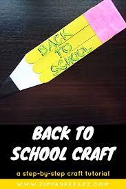 easy back to pencil craft for kids zippadee zazz