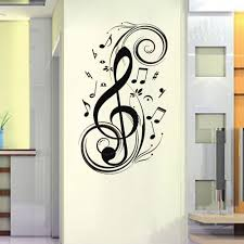 Music Note Wall Decor 23 6 X 47 2 Large Music Notes Wall Decals Wall Art Decor Removable