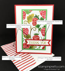 fruit stand thank you card stampin u0027 pretty