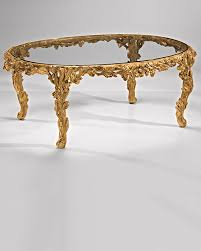 Glass And Gold Coffee Table Oval Coffee Table And Carved Oval Coffee Table With Glass Top