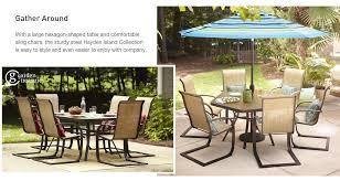 Patio Table Lowes Stylish Ideas Hexagon Patio Table Shop The Hayden Island